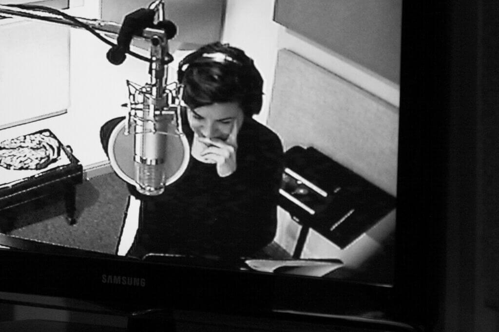Celia Berk in the Recording Studio
